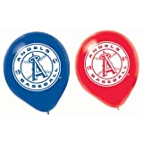 "Los Angeles Angels Major League Baseball Printed Latex Balloons Party Decoration, 12"", Pack of 6"