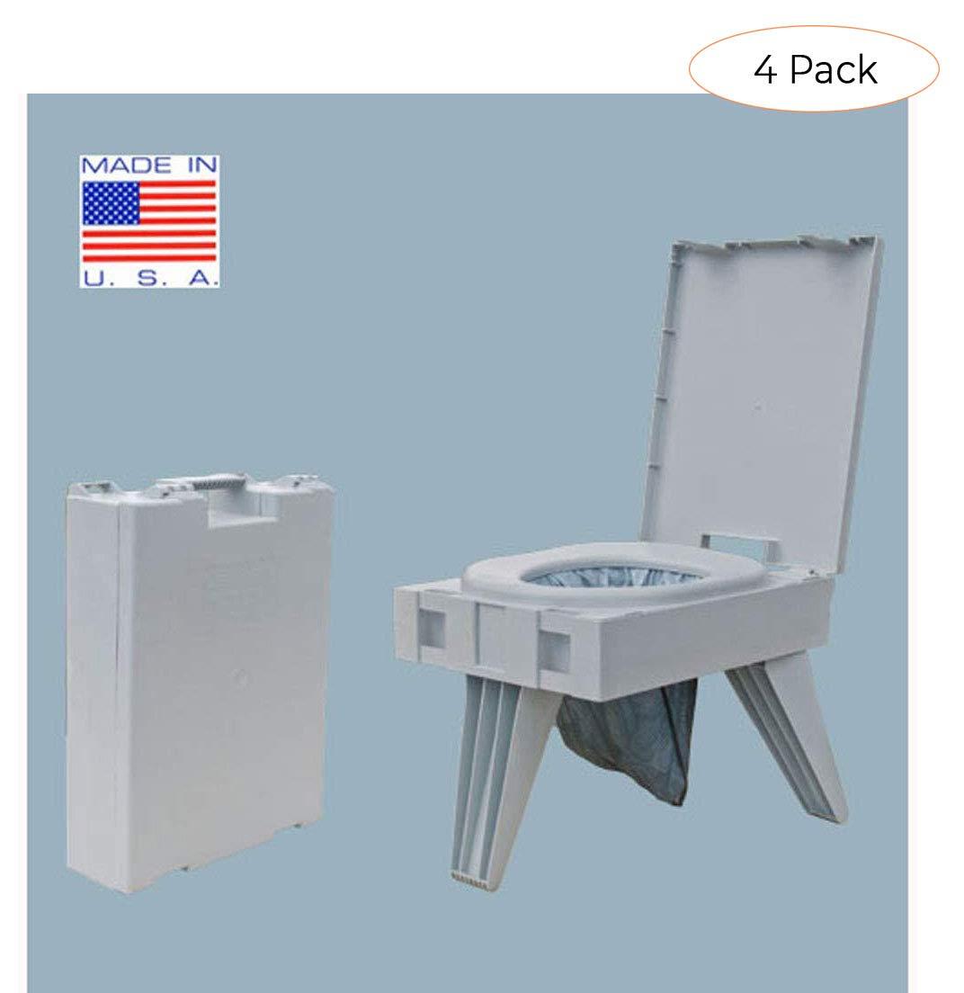 Cleanwaste Portable Toilet w/ 1 Waste Kit (D119PET) (Fоur Расk)