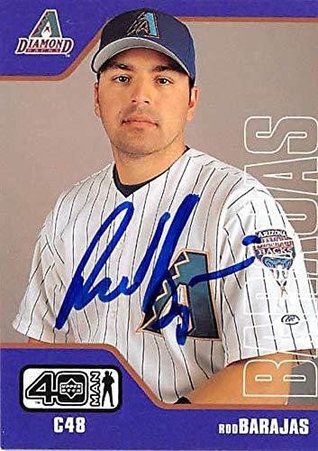 Rod Barajas Autographed Baseball Card Arizona Diamondbacks 2002 Upper Deck 40 Man 663 Mlb Autographed Baseball Cards
