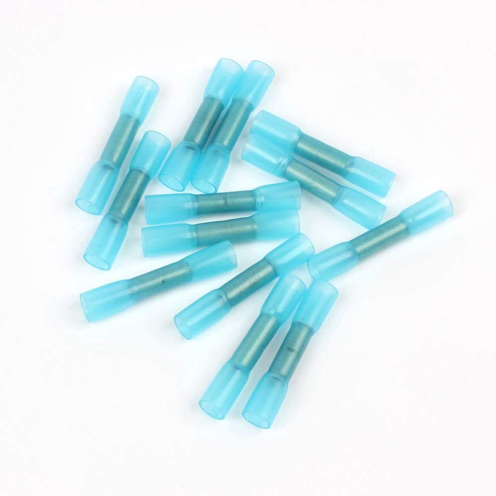 10 Stück Lötverbinder Stossverbinder blau 1,5-2,5 qmm