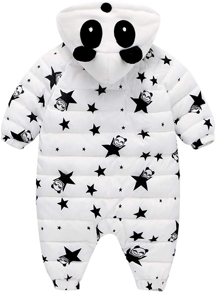 Ts99-kWm/_Baby Coat Newborn Infant Baby Winter Warm Thick Star Rompers Jumpsuit Hooded Outfits