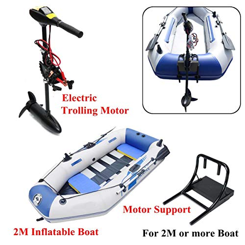 SHIYANLI DC 12V 18/28/40/48/60/88LBS Electric Trolling Motor Inflatable Boat Outboard Engine+,88LBS1.7m