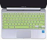 "10.1"" ASUS Chromebook Keyboard Protector Skin for ASUS C100PA C101PA ChromeBook Flip 10.1"" Convertible Laptop US Layout (Green)"
