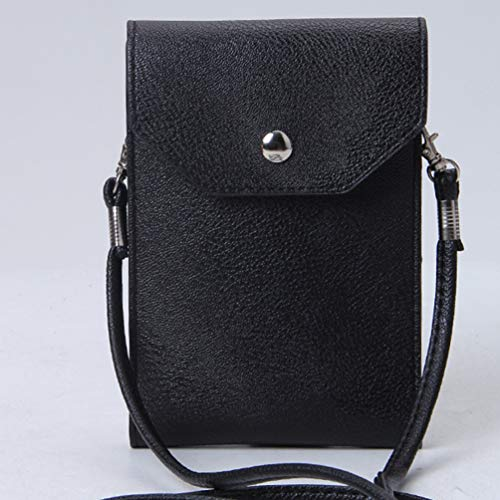 Leather Crossbody Multifunctional Shoulder Clutch Phone Black Single Cell Wallet Mini Artificial Bags Kairuun Bag Women YafSwqYP