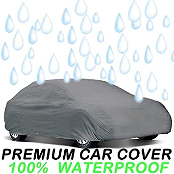 UAA Gray Fitted Indoor Outdoor Car Cover for NISSAN ALTIMA