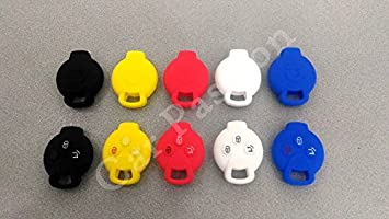 Silicone Key Cover for Smart ForTwo 451/ForFour Roadster Rubber Keyring black