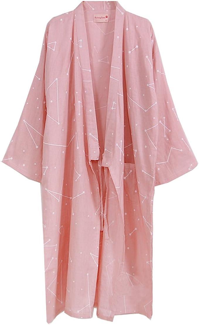 Bata de algodón de Las Mujeres japonesas Bata de Kimono ...