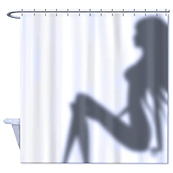 72quotw X 72quoth Funny Shower Curtain Sexy Woman