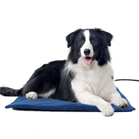 MOOUK Calentador de Mascotas, Alfombrilla de Calor para Perros y Gatos, Temperatura Regulable,