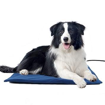 MOOUK Calentador de Mascotas, Alfombrilla de Calor para Perros y Gatos, Temperatura Regulable, calefacción eléctrica, Alfombrilla para Mascotas, ...