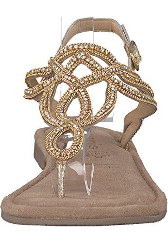 Schwarz 28115 Sandals Back WoMen Gold Black Tamaris Sling Metallic nRwXfqnZ