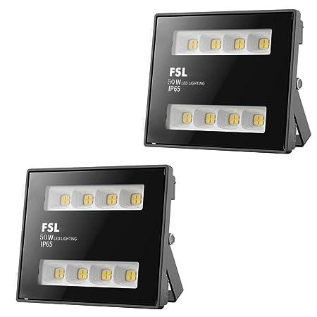 2 Pack 30W/50W/100W Foco Proyector LED, Al Aire Libre Luz de ...