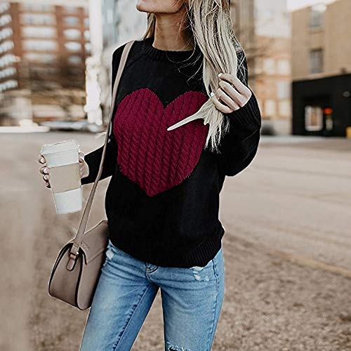 Tricot Femme Mode Hiver Automne Solike Chaud Sweater Pull l'amour q5pww7tB