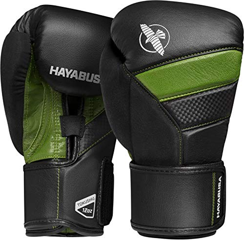 Hayabusa | T3 Boxing Gloves | Men and Women | Black/Green, 16oz