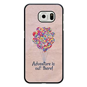 Samsung Galaxy S6 Edge Case, Customized Disney Adventure Is Out There Black Hard Shell Samsung Galaxy S6 Edge Case, Adventure Is Out There Galaxy S6 Edge Case(Only Fit for Galaxy S6 Edge)