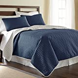 Amrapur Overseas Leaf 3-Piece Reversible Coverlet Set
