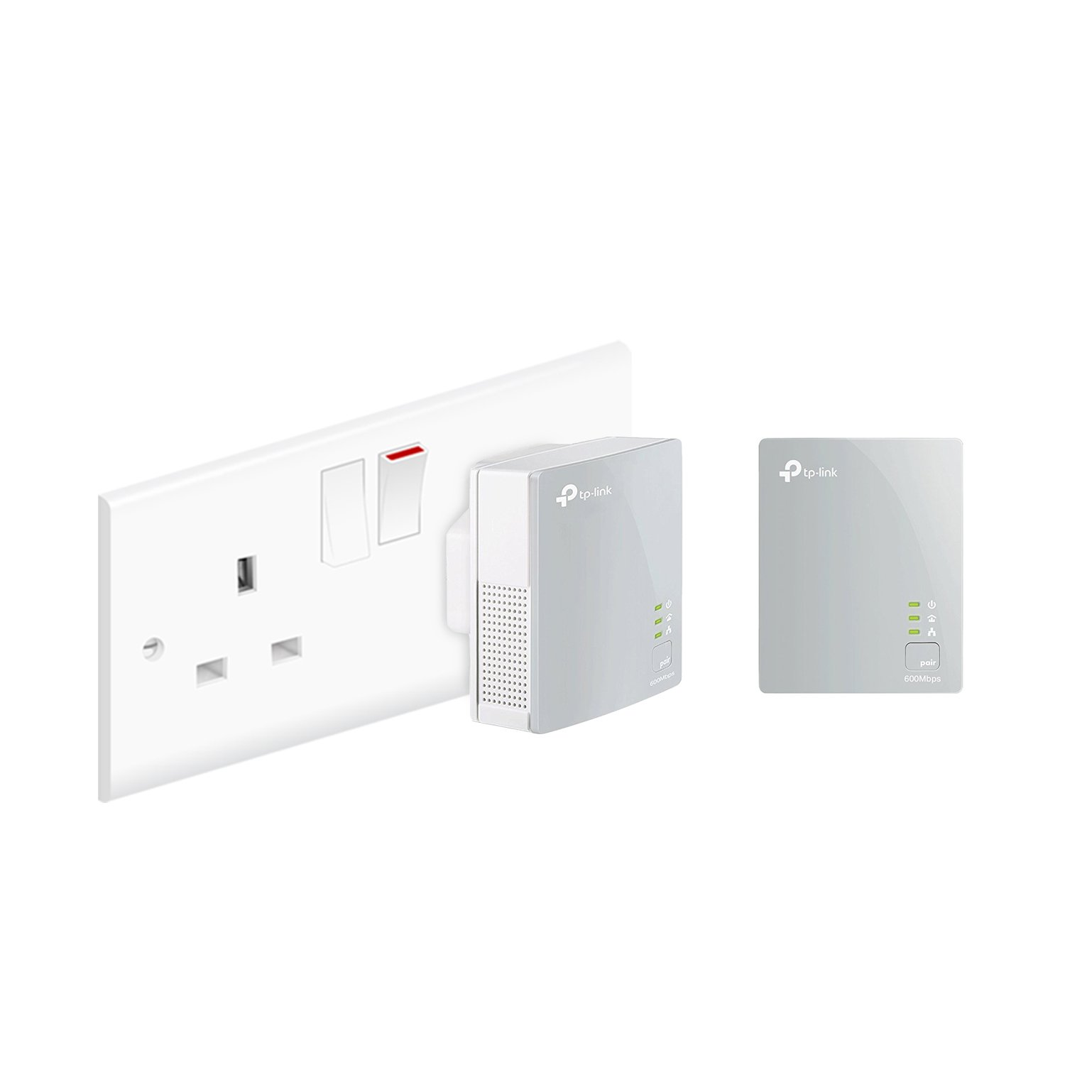 TP-Link TL-PA4010KIT Nano Powerline Adapter Starter Kit, No Configuration  Required, UK Plug
