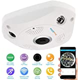 ProElite F01A 1.3 MP 960p Fisheye 360° Panoramic Wireless Wifi [Watch Live Demo Right Now] HD IP CCTV Security Camera with SD card slot