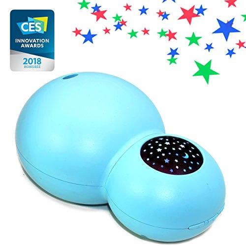 ZAQ Sky Aroma Essential Oil Kids Diffuser LiteMist Ultrasonic Aromatherapy Humidifier - Starry Sky Projection (Blue)