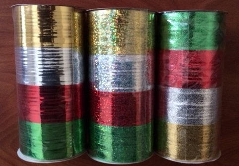 Christmas Metallic Curling Ribbon 3 PACK -