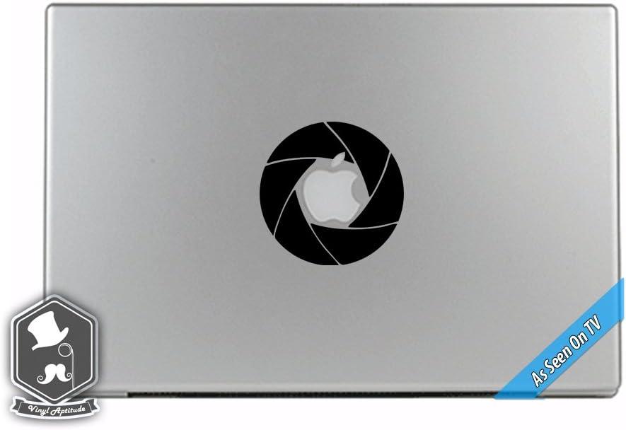 MacBook TV Commercial Aperture Shutter Lens Apple Overlay Art Vinyl Decal Sticker Skin Mac Book Air Pro Laptop Notebook People Love