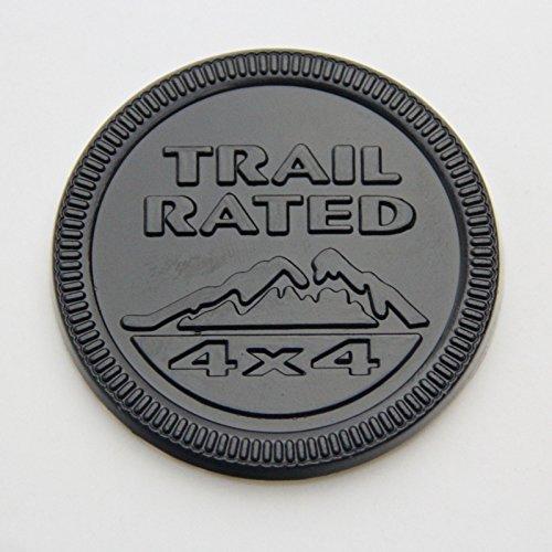 Grand Cherokee Wrangler Liberty Jeep Trail Rated 4x4 Badge Metal Emblem