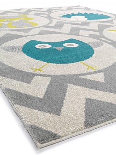 benuta Kinderteppich Forest Friends Grün 140x200 cm ...