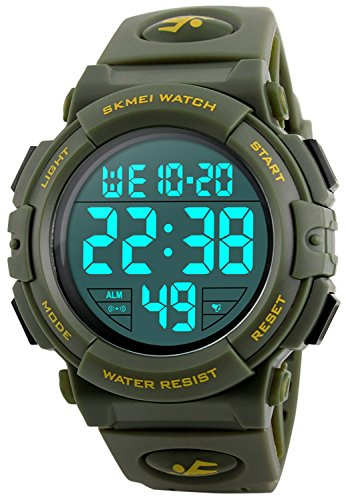 Best Fanmis Exercise Watches - Men's Big Face Digital Sports Watch