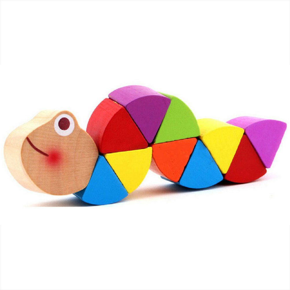 Baby Magic Twisting Insect-Axier Multi colour Magic Twisting Child Toy Wooden Puzzle train Flexibility Learning Education