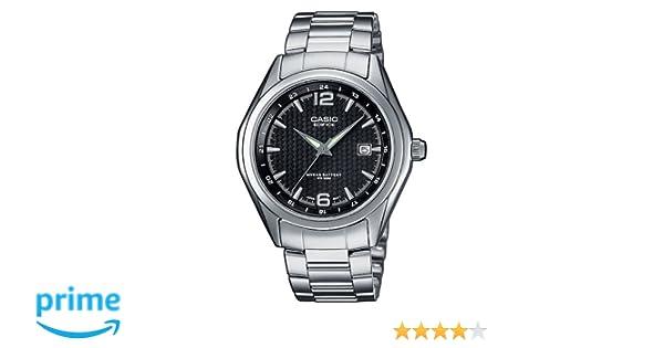 Casio Reloj Analógico para Mujer de Cuarzo con Correa en Acero Inoxidable EF-121D-1AVEF: Amazon.es: Relojes