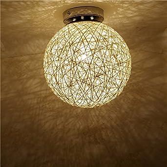 Led Creative Éclairage Boule Plafond Pendentif Plafonnier Applique Intérieur Luminaire Lampe Pionthx E14 Bambou Petite Rotin Moderne Murale wPTZuOlkXi