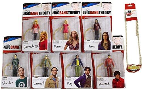 Big Bang Theory 3 3/4 inch Figure Bundle Series 1 Sheldon, Leonard, Howard, Raj, Penny, Bernadette, Amy Plus Bazinga Bundle of 8 Items
