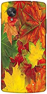 Snoogg Beautiful Autumn Maple Leaves Background Designer Protective Back Case...