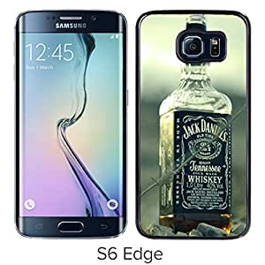 Newest Samsung Galaxy S6 Edge Case ,jack daniels whiskey alcohol bottles Black Samsung Galaxy S6 Edge Screen Case Unique And Durable Custom Designed Cover Case