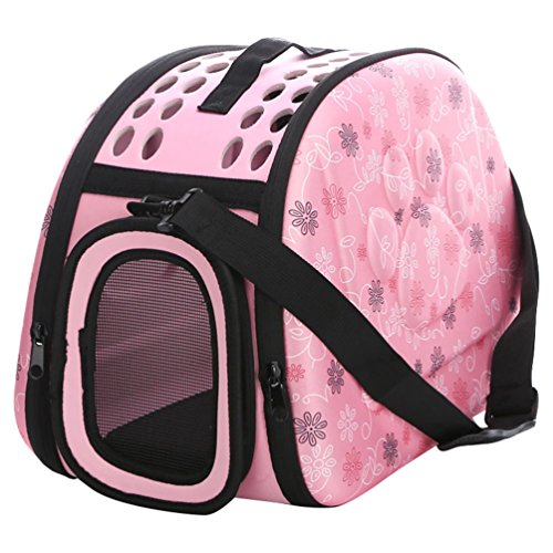 JEELINBORE Praktisch Schön Transporttasche Atmungsaktiv Transportbox Tragekorb für Katzen Hunde für Reisen