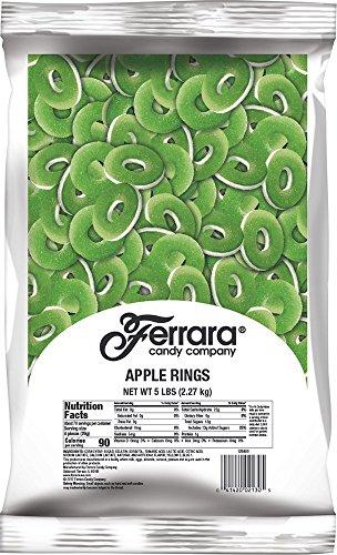 Ferrara Apple Rings Gummy Candy, 5 Pound Bulk Candy Bag