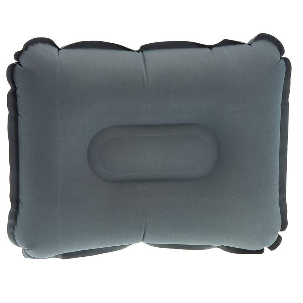 ZOUBIAG Inflatable Pillow Outdoor Leisure Camping Light Travel Flocking Mat (Color : Gray, Size : Light) by ZOUBIAG