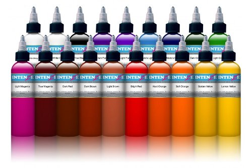 INTENZE TATTOO INK 19 COLOR SET 1 oz bottle - 100% Authentic