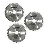 Antrader 4' Diameter 30/40 Toothed Circular Saw Cutter for Woodworking Pack of 3 (40 Toothed)