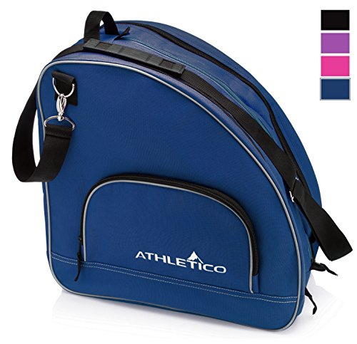Athletico Ice & Inline Skate Bag - Premium Bag to Carry Ice Skates, Roller Skates, Inline Skates for Both Kids and Adults (Blue)