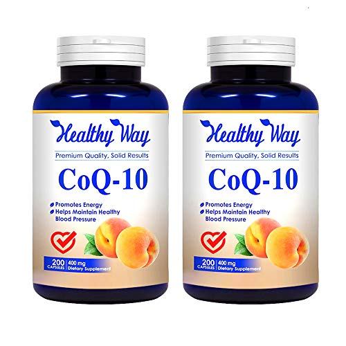 : Healthy Way Pure CoQ10 400mg Per Serving - 200 Capsules Supports Heart Health & Helps Maintain Healthy Blood Pressure - Non-GMO USA Made (2)
