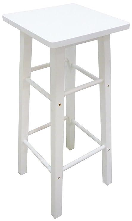 Sgabello Sedia in Legno bianco h 80 cm da Interno per ...