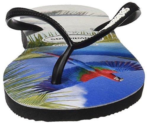 Havaianas Slim Buzios, Chanclas para Mujer Multicolor (Black 0090)