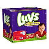 Health & Personal Care : Luvs With Ultra Leakguards Size 1 Diapers 264 Count by Luvs