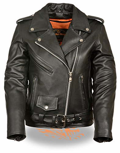 Milwaukee Women's Full Length Motorcycle Jacket (Black, Large)