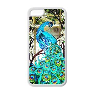 meilz aiaiTPU Case Cover for ipod touch 5 Strong Protect Case Cute Peacock Bird painting Printed Case Perfect as Christmas gift(5)meilz aiai