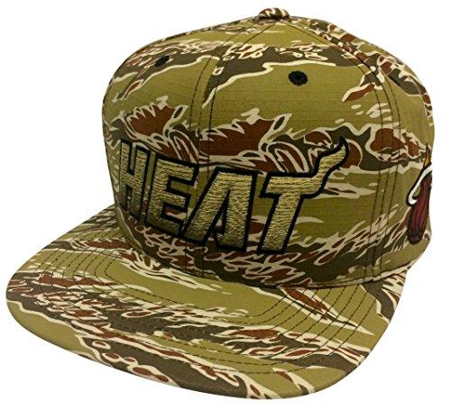 sale retailer 6b9be 53984 ... denmark miami heat camouflage caps. mitchell ness tiger stripe camo  gradiant miami heat snapback 70297