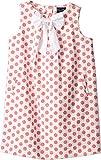 Oscar de la Renta Childrenswear Baby Girl's Dots On Tweed Pleat Bow Dress (Toddler/Little Kids/Big Kids) Peony 12