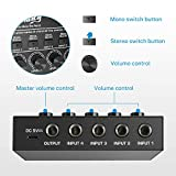 Moukey Ultra Low-Noise 4-Channel Line Mixer for