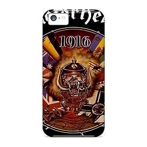 Shock-Absorbing Hard Cell-phone Case For Iphone 5c With Unique Design Stylish Motorhead Band Skin KennethKaczmarek